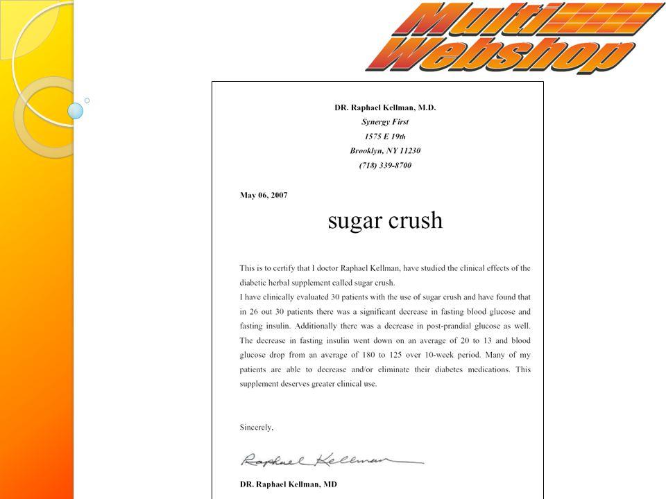 A Sugar Crush klinikai hatástanulmánya orvosi kivizsgálás során véletlenszerűen kiválasztott személyeken