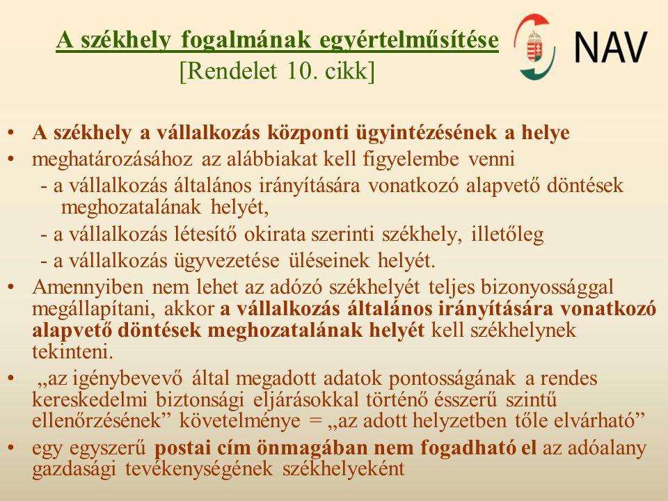 Elektronikus szolgáltatások [Rendelet 7.