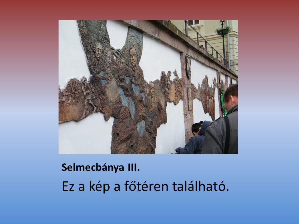 Selmecbánya III. Ez a kép a főtéren található.