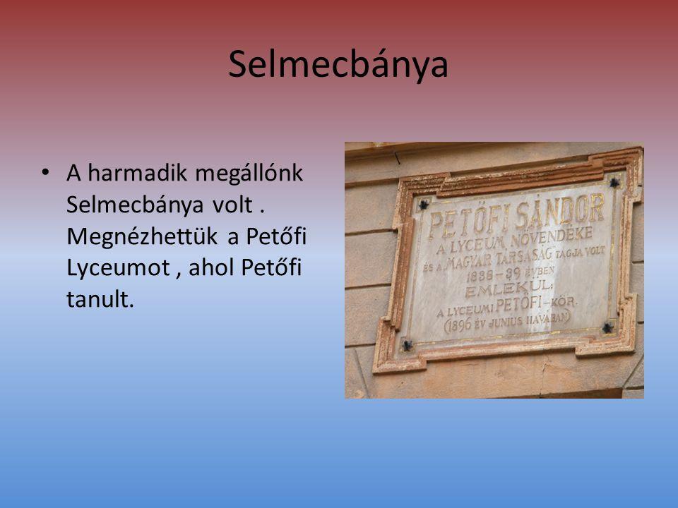 Selmecbánya • A harmadik megállónk Selmecbánya volt.