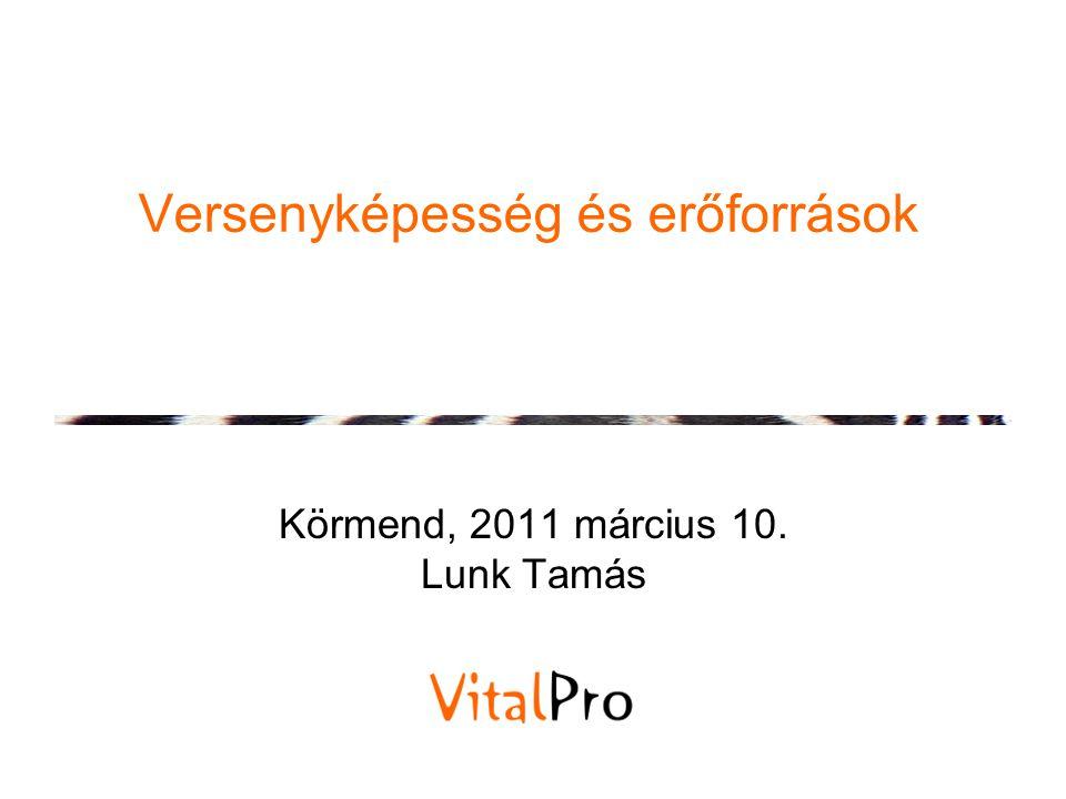 Versenyképesség és erőforrások Körmend, 2011 március 10. Lunk Tamás