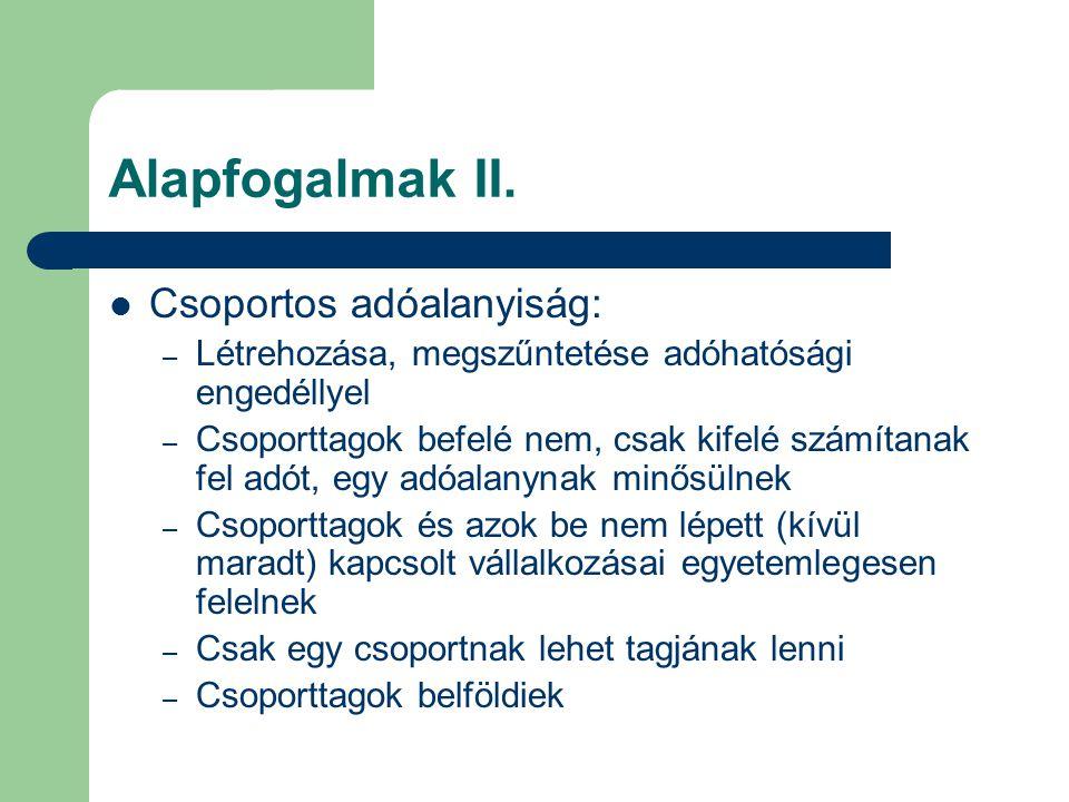 Alanyi adómentesség II.