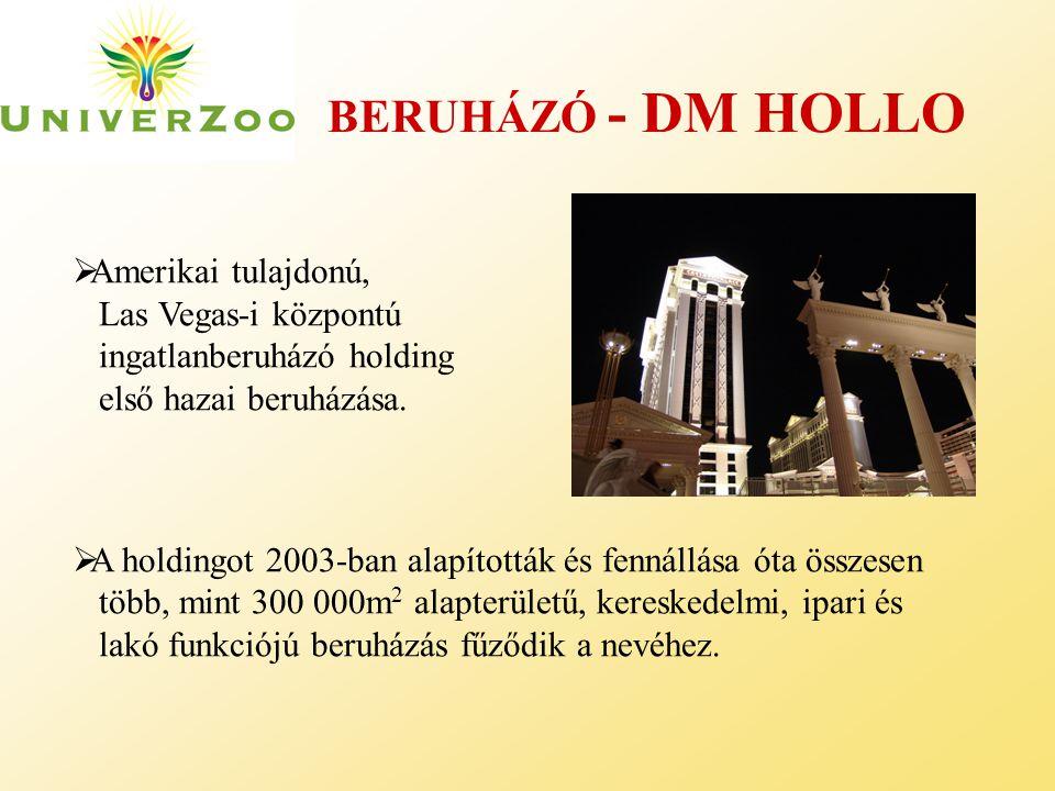 BERUHÁZÓ - DM HOLLO  Amerikai tulajdonú, Las Vegas-i központú ingatlanberuházó holding első hazai beruházása.