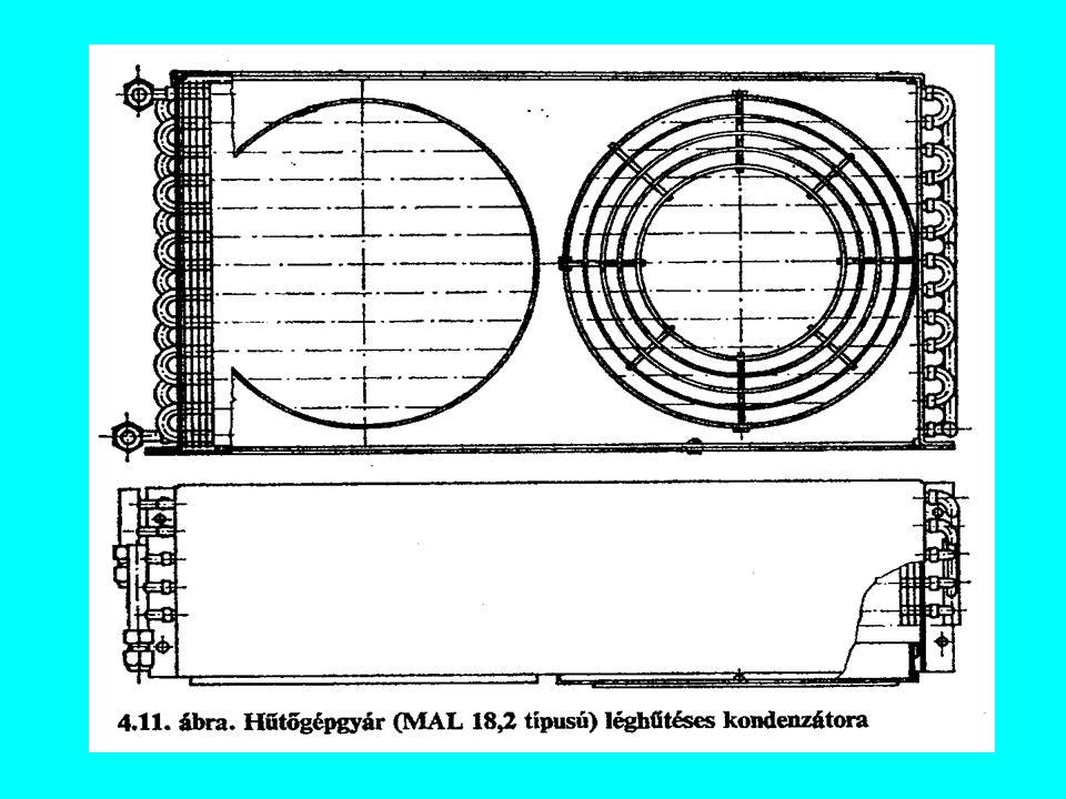Léghűtéses kondenzátoroknál külön gondot jelent a csőjáratok kialakítása.