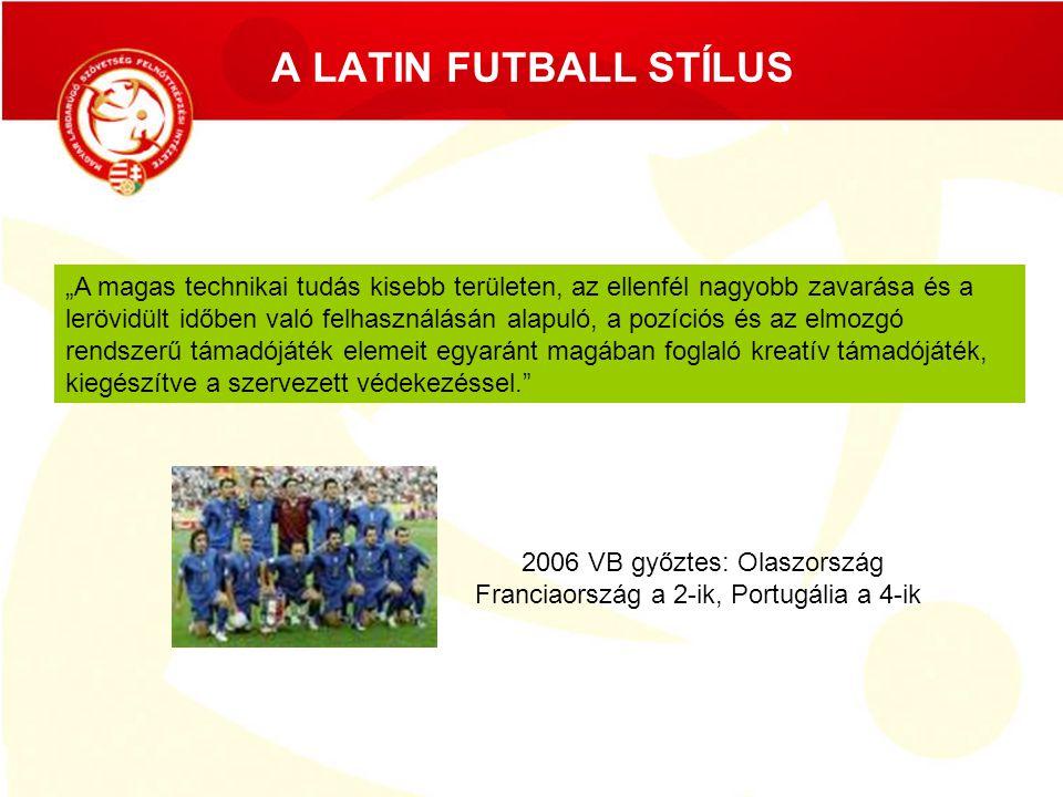 """A LATIN FUTBALL STÍLUS ÚJSZERŰ ALKALMAZKODÁSOKAT KÍVÁN A """"latin futball szemre könnyed, ugyanakkor nagyobb teljesítményt követel a mérkőzés teljesítmény összetevői részéről."""