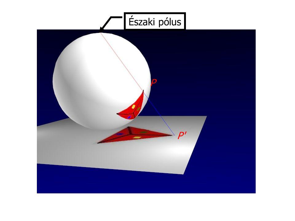 Az eljárás megfordítható, ha gömböt a rárajzolt gráffal együtt úgy tesszük le a síkra, hogy a gráf egyetlen pontja vagy éle se menjen át az északi póluson.