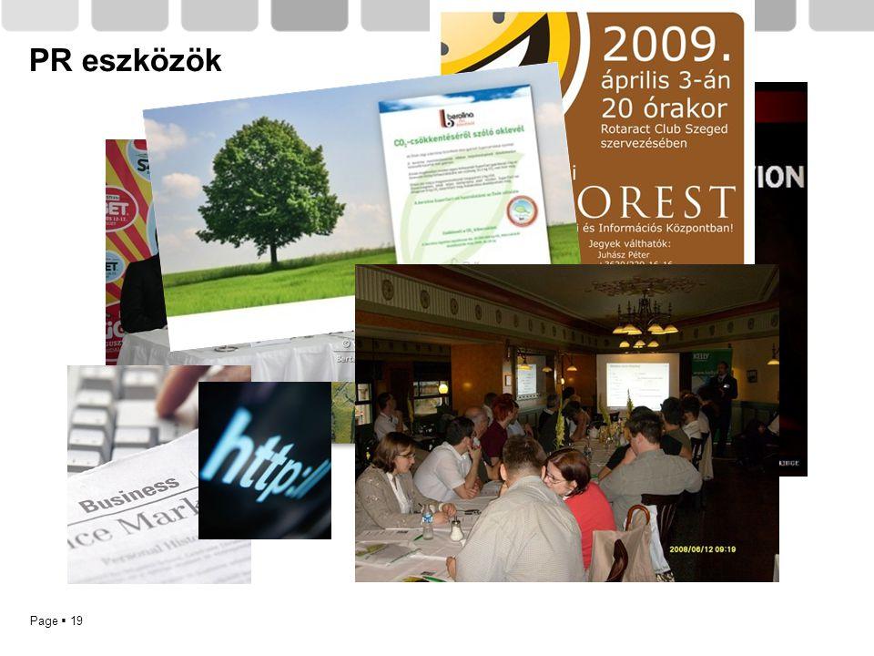 Page  19 PR eszközök
