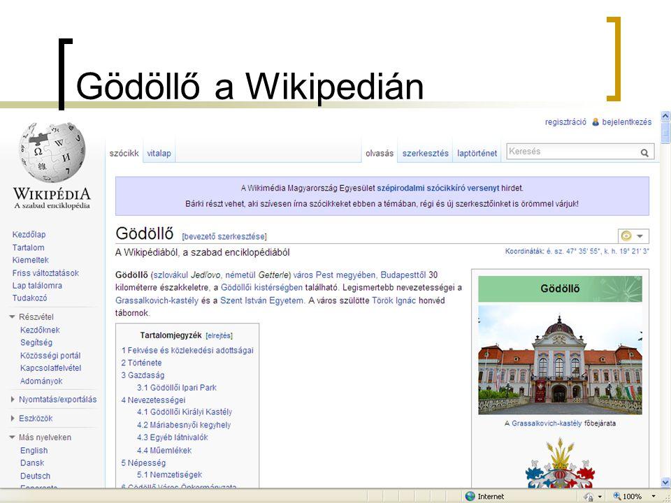 Gödöllő a Wikipedián