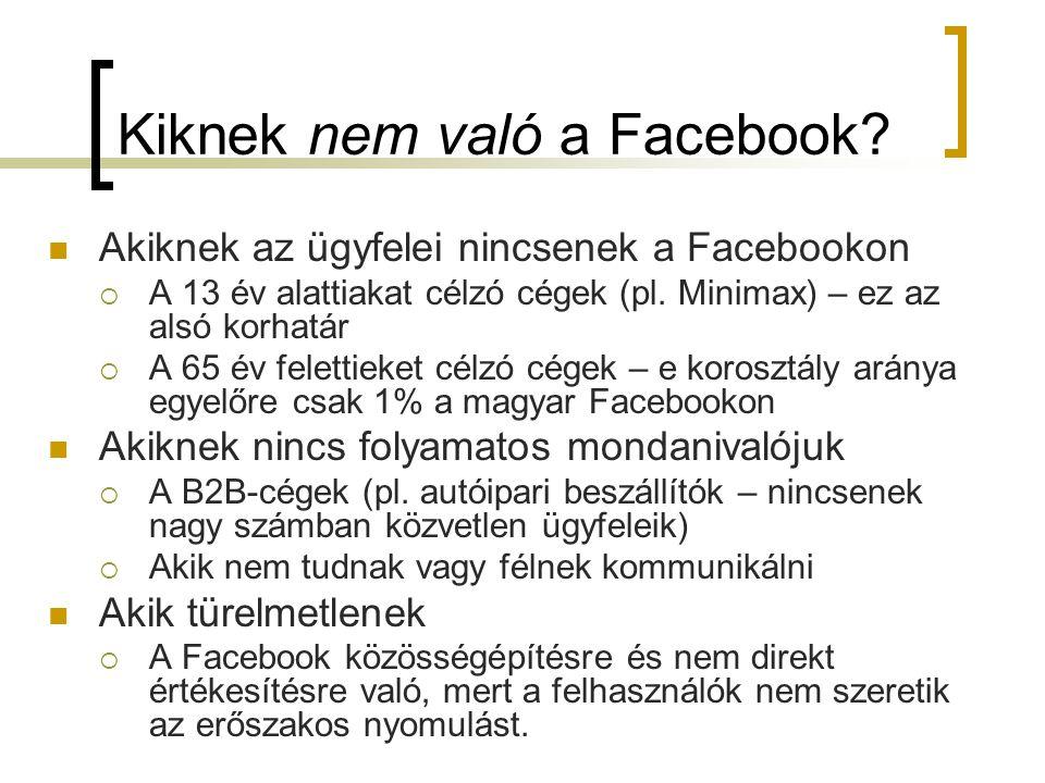 Kiknek nem való a Facebook.