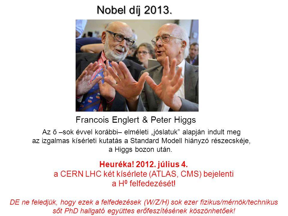 Sheldon Glashow Steven WeinbergAbdus Salam Ők jósolták meg elméletileg. Nobel díj: 1979 Ők pedig felfedezték CERN-ben, 1983-ban Nobel díj: 1984 W/Z: S
