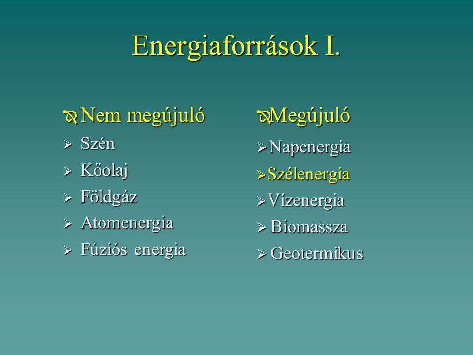 Energiaforrások I.
