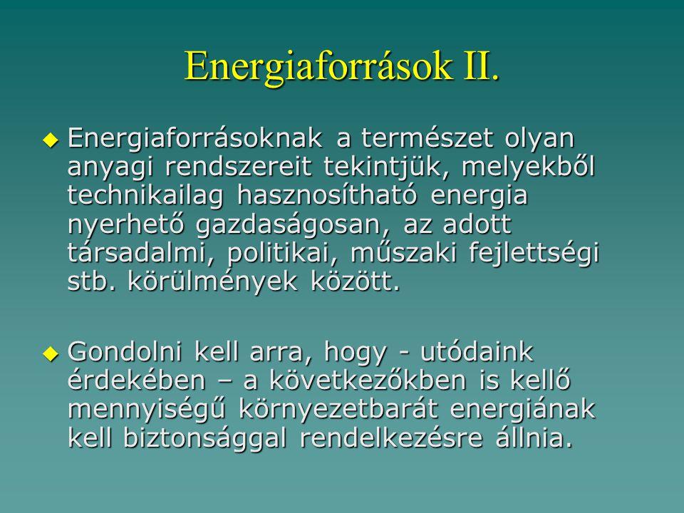 Energiaforrások II.