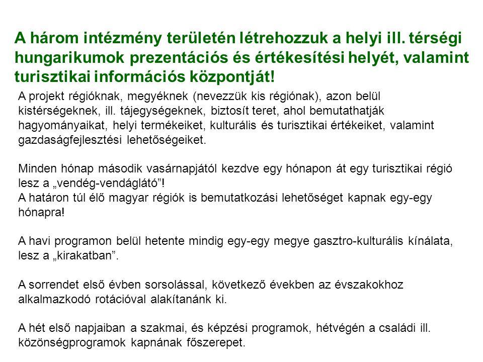 Hungarikum, és termelői piac Vidékfejlesztési Minisztérium •Minden pénteken, szombaton, és vasárnap - Hungarikum, és termelői piac.