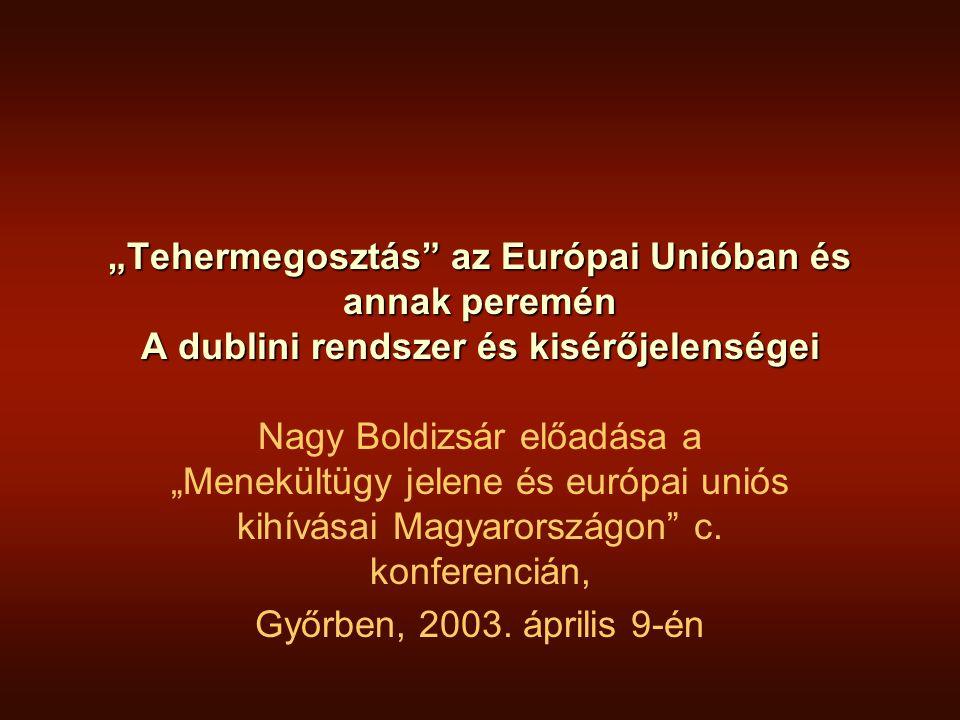 EURODAC •Érintettek: Valamennyi menekült státusz kérelmező + a határ illegális átlépői+az illegális tartózkodáson tettenértek •Eljárás: valamennyi.