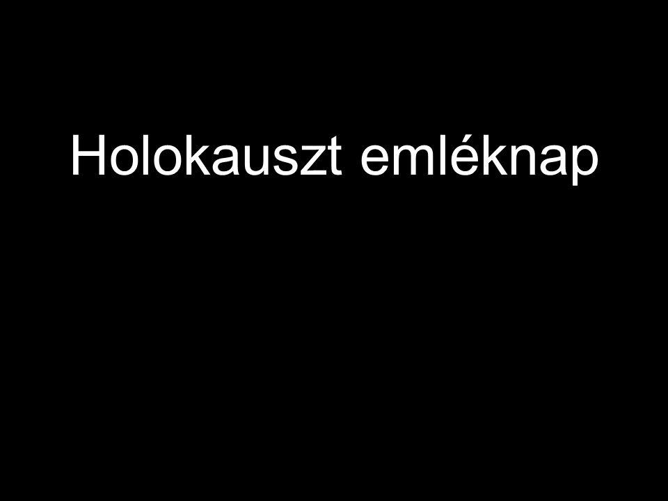 A Holokausztról megemlékezve egy letűnt, jórészt elpusztított kultúrára emlékezünk, az európai zsidó életmódra.