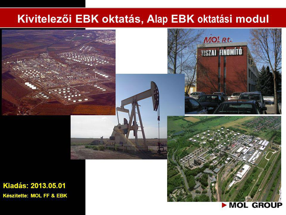 Kivitelezői EBK oktatás, A lap EBK oktatás i modul Kiadás: 2013.05.01 Készítette: MOL FF & EBK