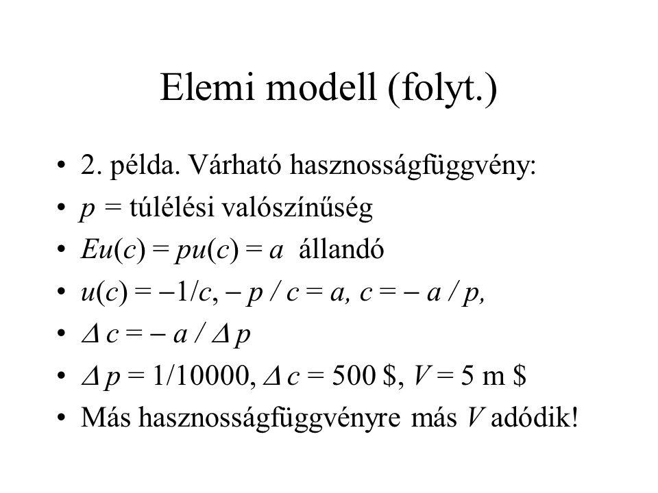 Elemi modell (folyt.) •2. példa.