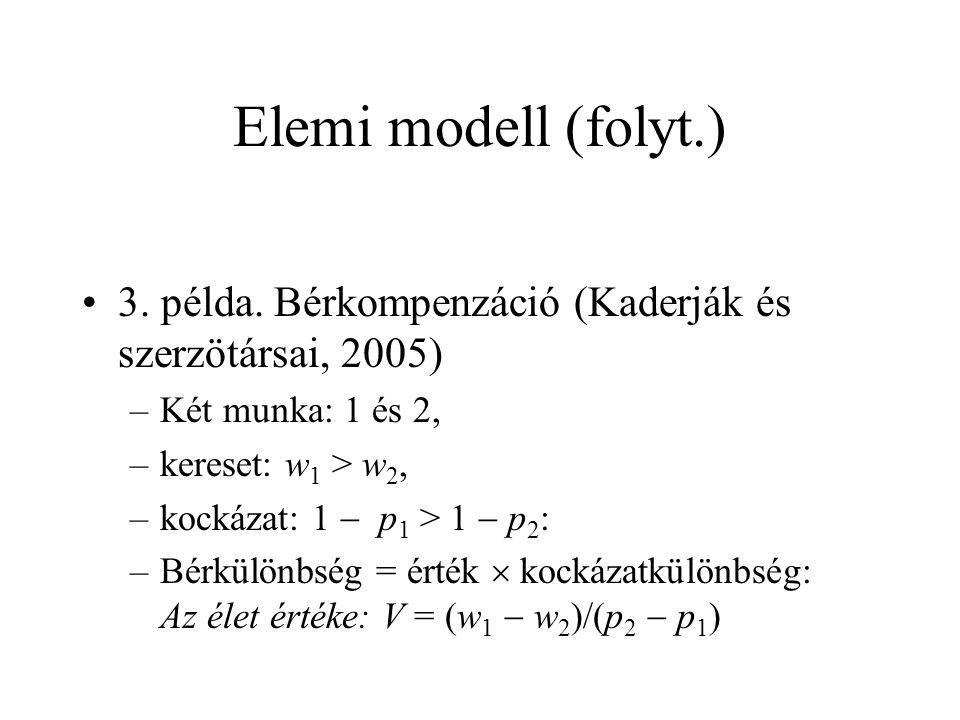 Elemi modell (folyt.) •3. példa.