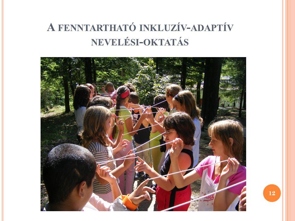 A FENNTARTHATÓ INKLUZÍV - ADAPTÍV NEVELÉSI - OKTATÁS 12