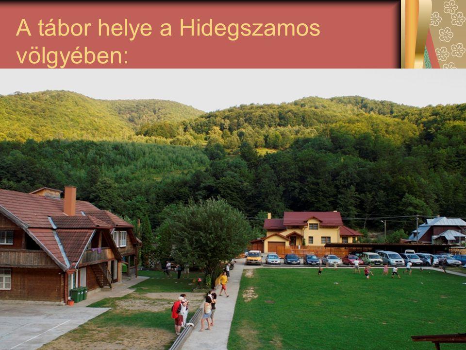 A tábor helye a Hidegszamos völgyében: