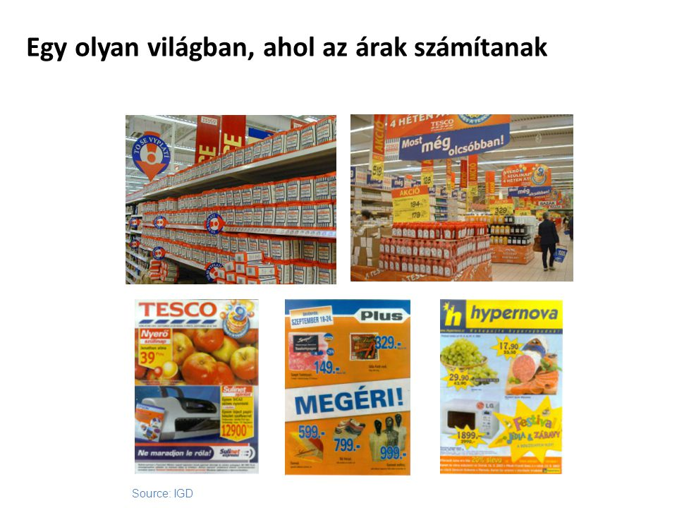 Egy olyan világban, ahol az árak számítanak Source: IGD