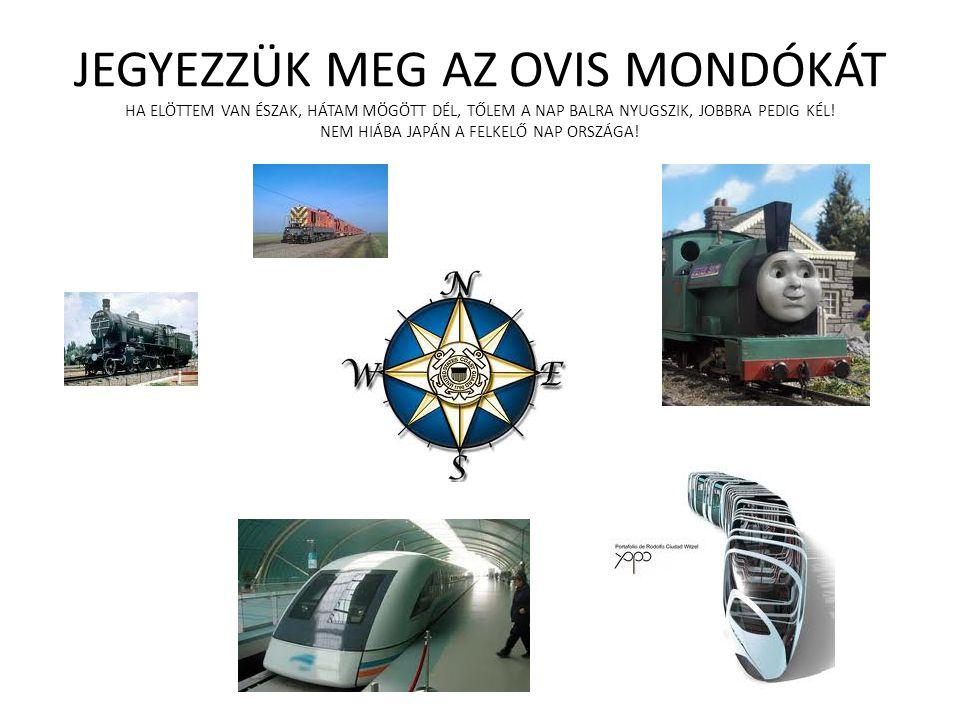 HELY-MOZGÁS • A mozdony helye koordinátái megadásával könnyen megoldható.
