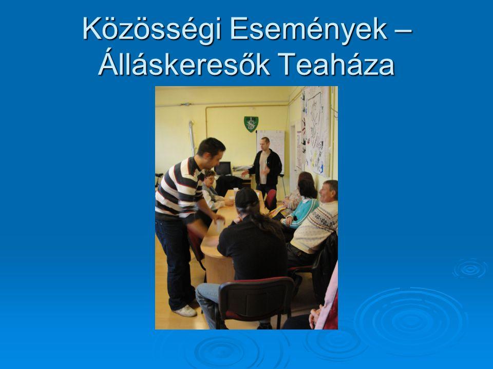 Közösségi Események – Álláskeresők Teaháza