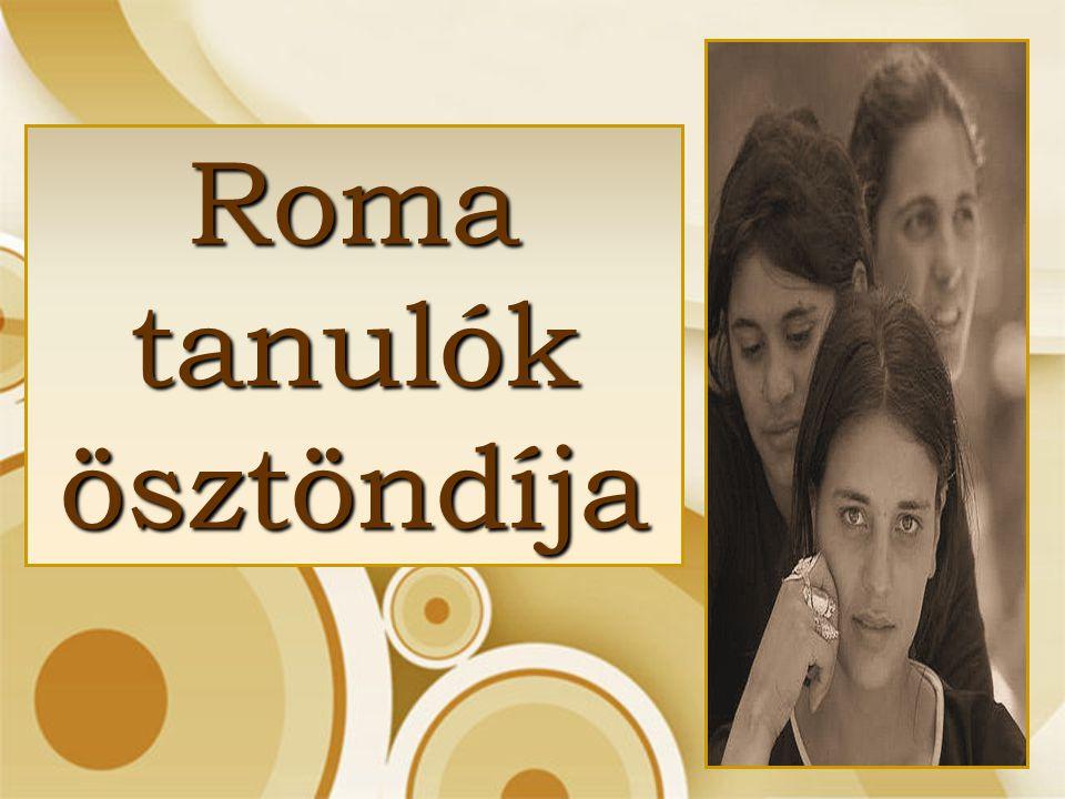 Roma tanulók ösztöndíja