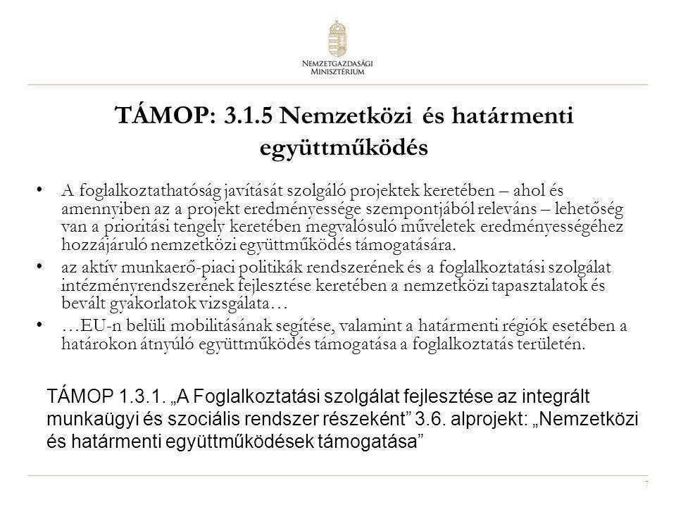 8 Akcióterv: TÁMOP 1.4.4.