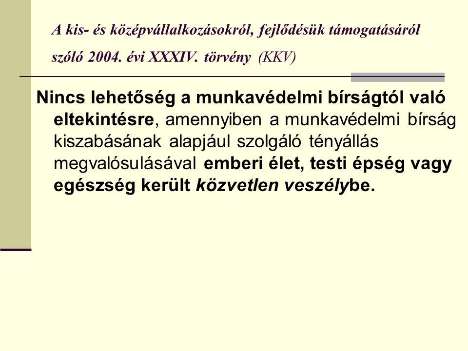 A kis- és középvállalkozásokról, fejlődésük támogatásáról szóló 2004.