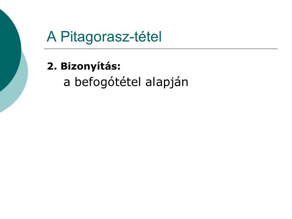 A Pitagorasz-tétel 2. Bizonyítás: a befogótétel alapján
