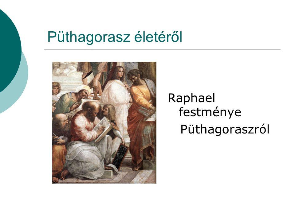 Püthagorasz életéről Raphael festménye Püthagoraszról