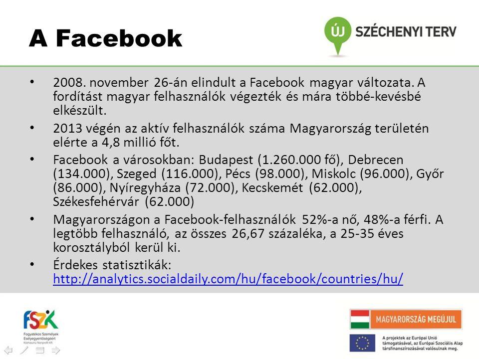• 2008. november 26-án elindult a Facebook magyar változata. A fordítást magyar felhasználók végezték és mára többé-kevésbé elkészült. • 2013 végén az