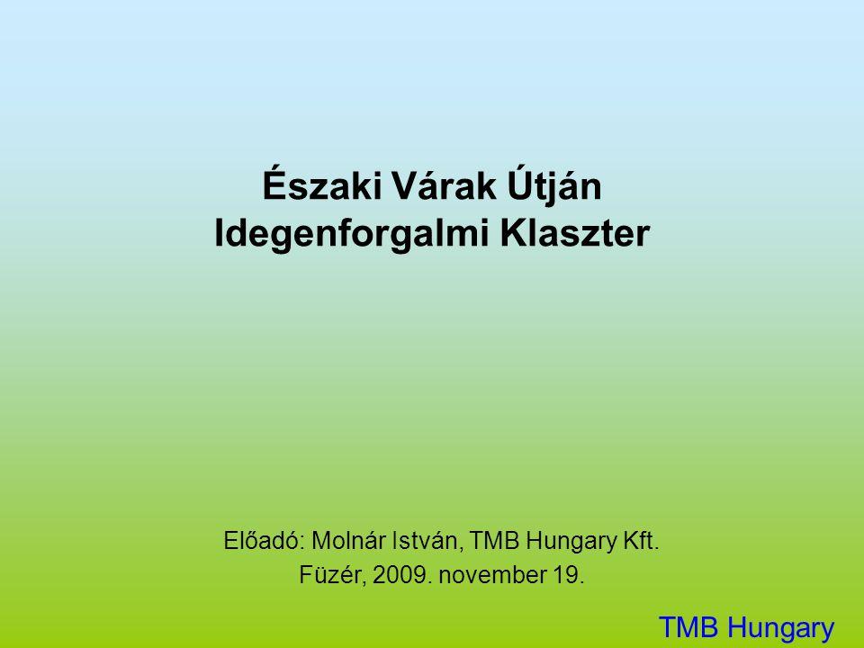 Északi Várak Útján Idegenforgalmi Klaszter Előadó: Molnár István, TMB Hungary Kft. Füzér, 2009. november 19. TMB Hungary Kft.