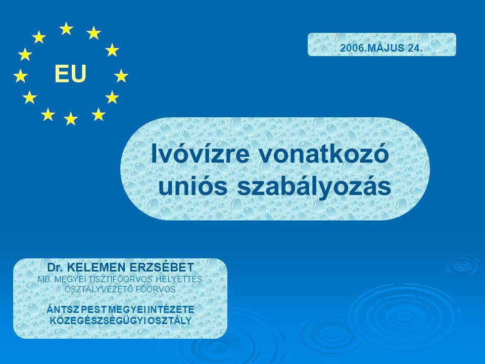 BEVEZETÉS AZ EURÓPAI PARLAMENT ÉS A TANÁCS 2000/60/EK (2000.