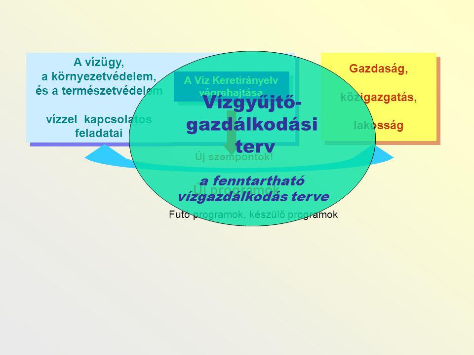 Gazdaság, közigazgatás, lakosság Gazdaság, közigazgatás, lakosság A vízügy, a környezetvédelem, és a természetvédelem vízzel kapcsolatos feladatai A v