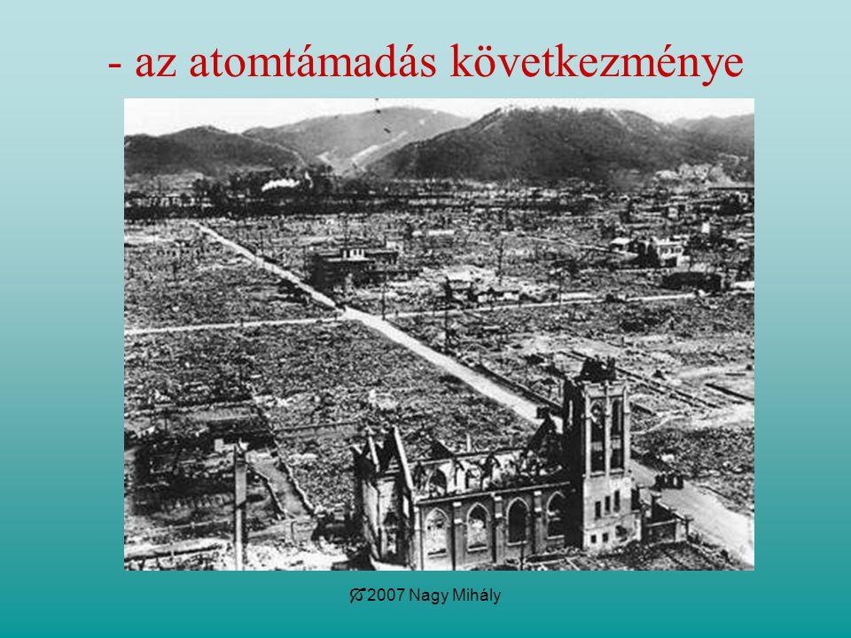  2007 Nagy Mihály - az atomtámadás következménye
