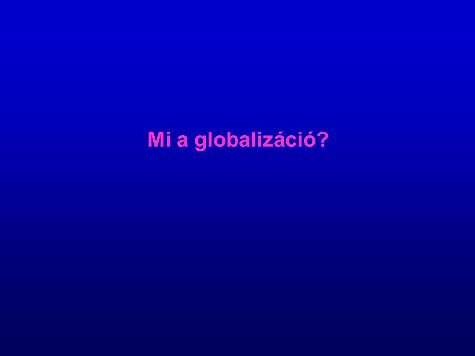 Mi a globalizáció?