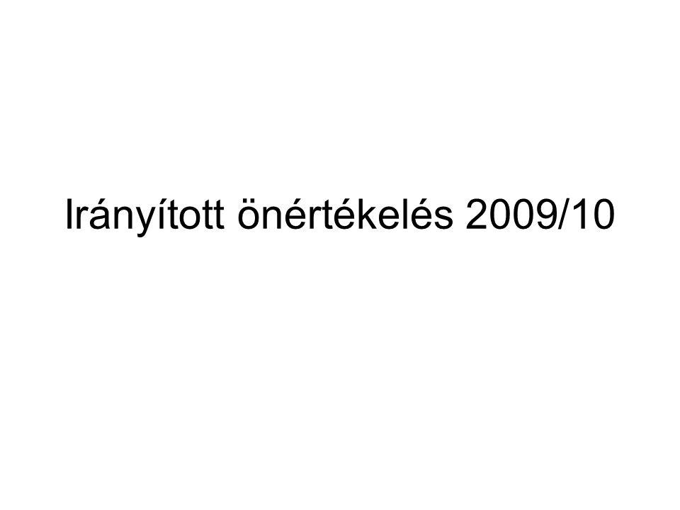 Irányított önértékelés 2009/10