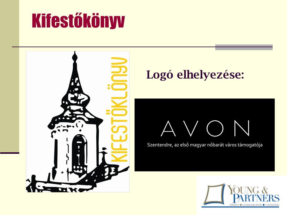 Kifestőkönyv Logó elhelyezése: