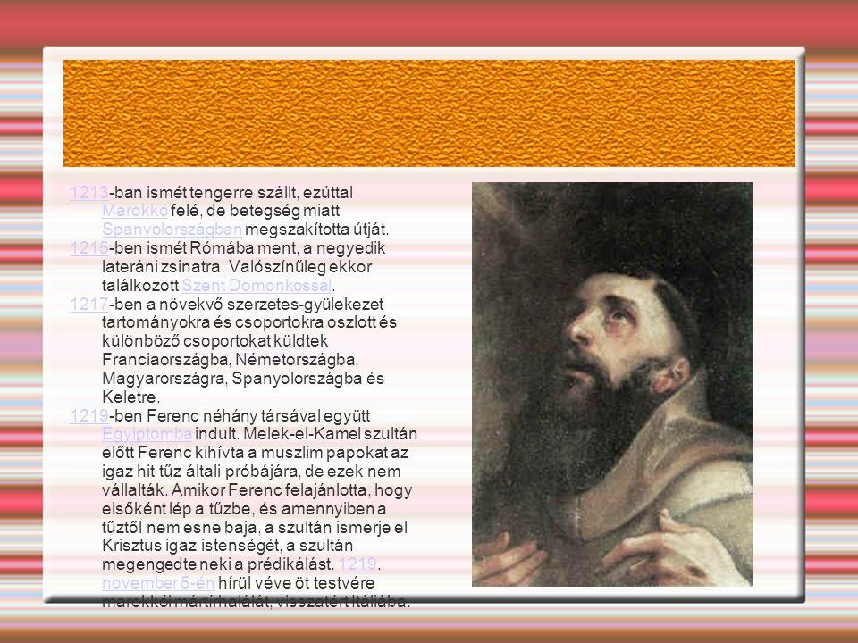 12131213-ban ismét tengerre szállt, ezúttal Marokkó felé, de betegség miatt Spanyolországban megszakította útját.
