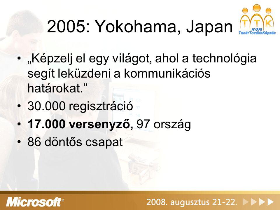 """2006: Delhi, India •""""Képzelj el egy világot, ahol a technológia segít egészségesebb életet élni. •68.000 regisztráció •24.000 versenyző 100 országból •76 döntős csapat"""
