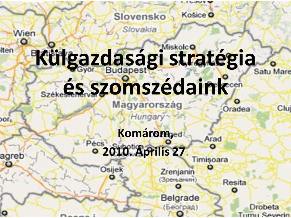 Külgazdasági stratégia és szomszédaink Komárom, 2010. Április 27.