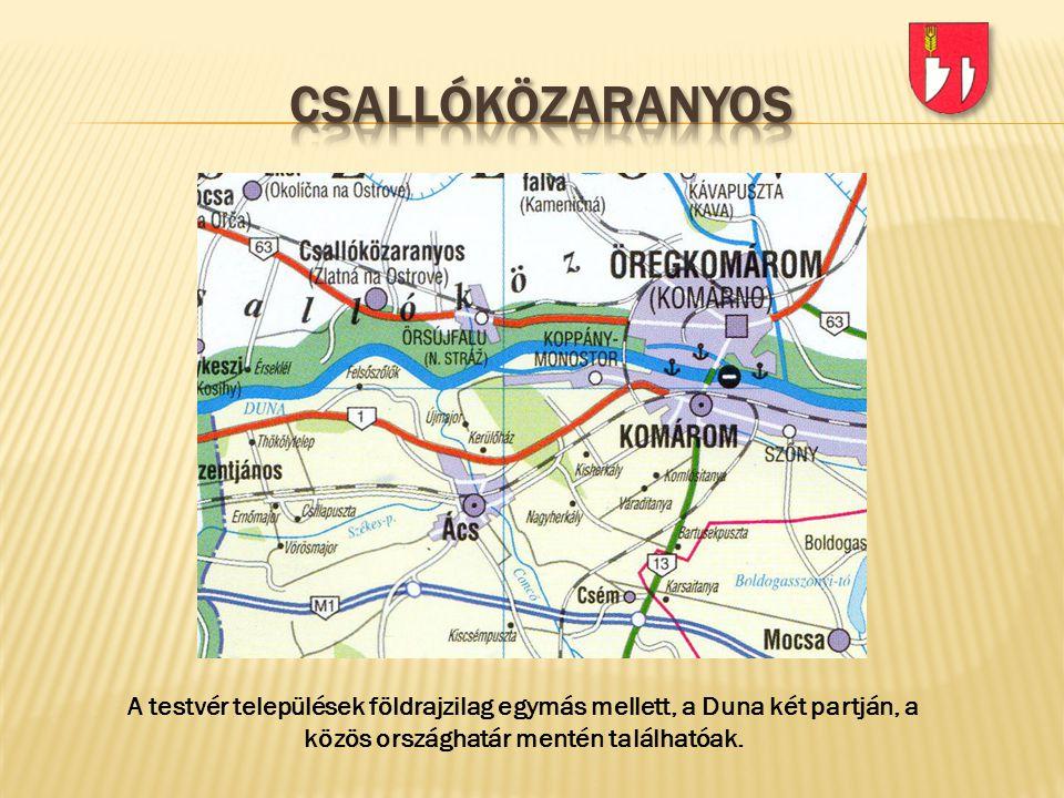 A testvér települések földrajzilag egymás mellett, a Duna két partján, a közös országhatár mentén találhatóak.