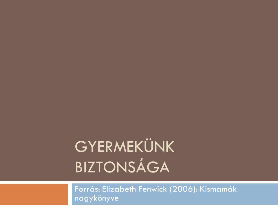 GYERMEKÜNK BIZTONSÁGA Forrás: Elizabeth Fenwick (2006): Kismamák nagykönyve