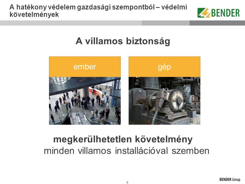 77 © Bender - a teljesítmény az elektromos rendszerek mögött - biztonságossá tesszük a villamos energiát