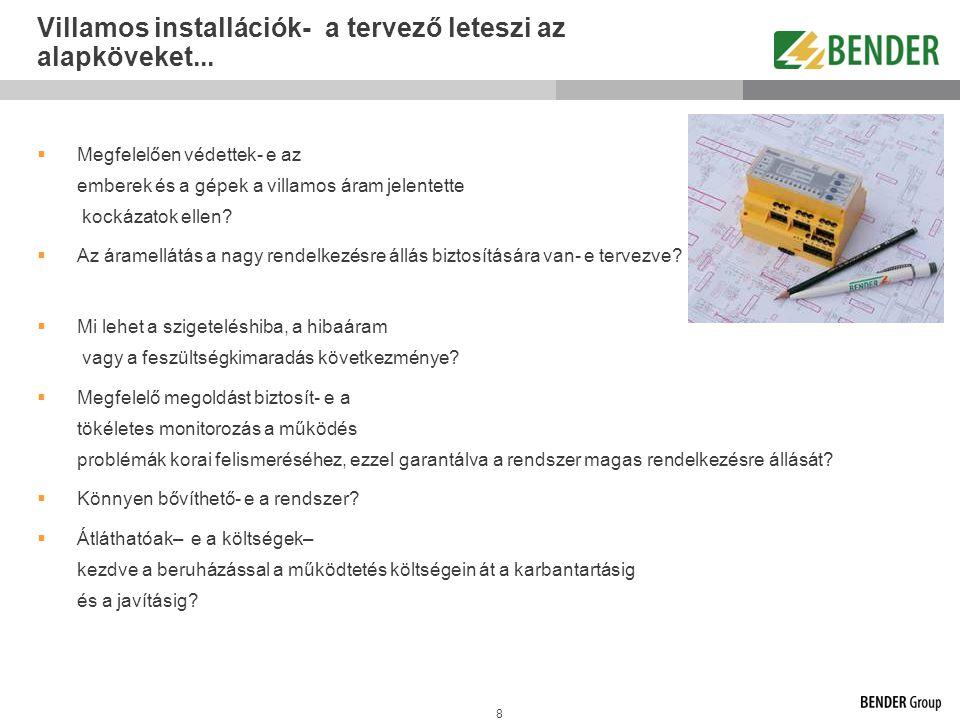 59 Az A-ISOMETER monitoring feladatai Szigetelési hibahely behatároló rendszer EDS...