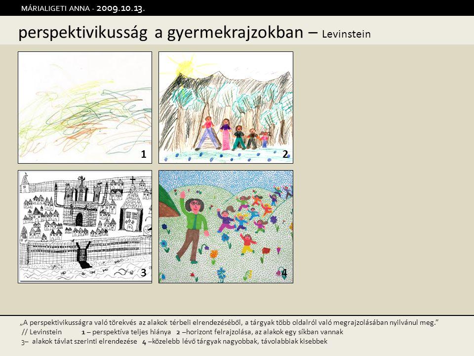 """perspektivikusság a gyermekrajzokban – Levinstein MÁRIALIGETI ANNA - 2009.10.13. 12 34 """"A perspektivikusságra való törekvés az alakok térbeli elrendez"""