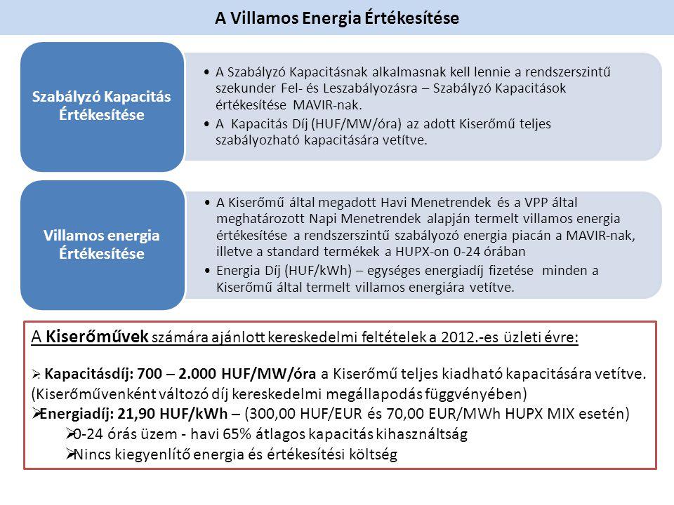 A Villamos Energia Értékesítése •A Szabályzó Kapacitásnak alkalmasnak kell lennie a rendszerszintű szekunder Fel- és Leszabályozásra – Szabályzó Kapac