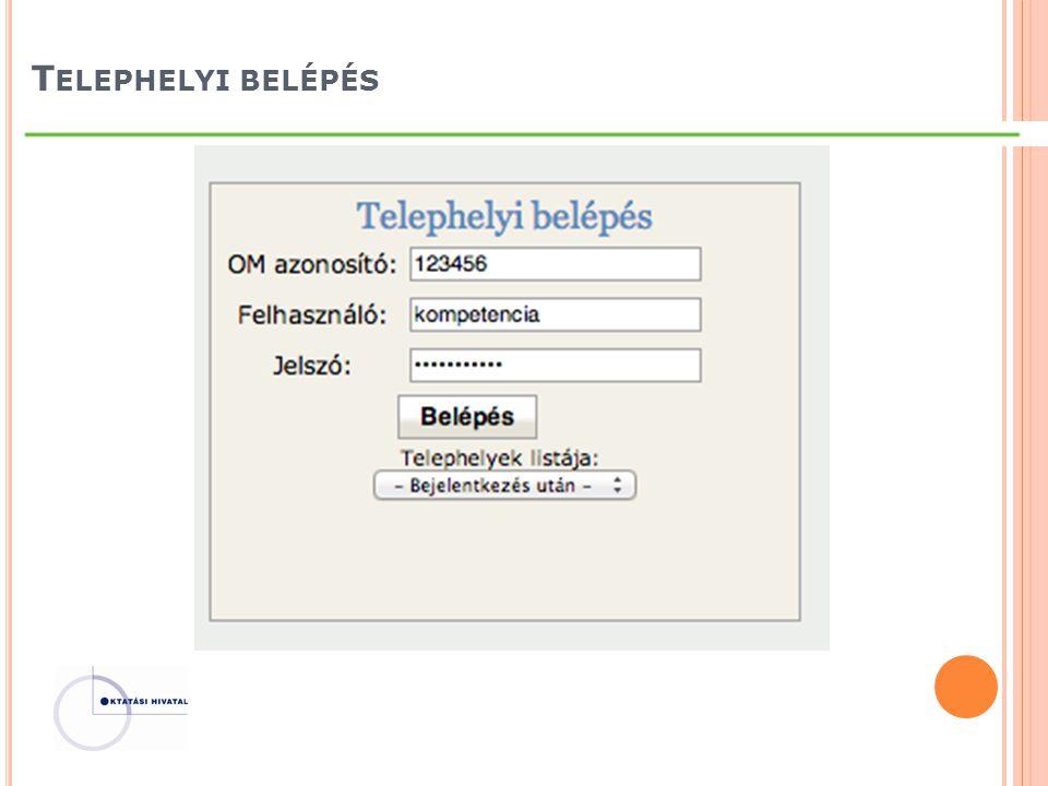 T ELEPHELYI BELÉPÉS